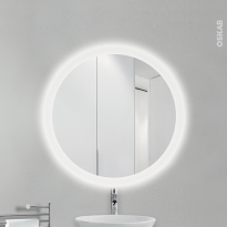 Miroir de salle de bains - Lumineux MARA - Diamètre 75 cm