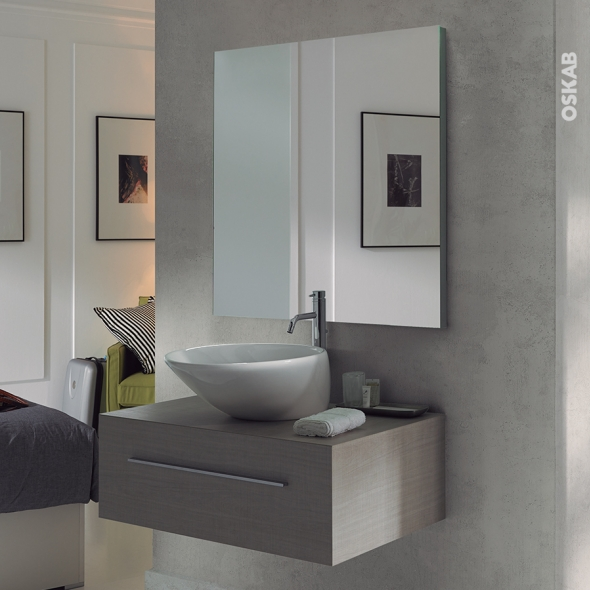miroir de salle de bains laya l80 x h60 oskab. Black Bedroom Furniture Sets. Home Design Ideas