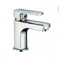 Robinet MAKO - Mitigeur lavabo salle de bains - Bec bas à tirette - Chromé