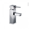 Robinet de salle de bains - MORA - Mitigeur lavabo - Bec bas à tirette - Chromé