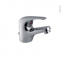 Robinet de salle de bains - CABIO - Mitigeur lavabo - Bec bas à tirette -  Chromé