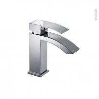 Robinet de salle de bains - DORA - Mitigeur lavabo - Bec bas à tirette - Chromé