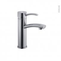 Robinet de salle de bains - GRENA - Mitigeur lavabo - Bec bas à tirette - Chromé