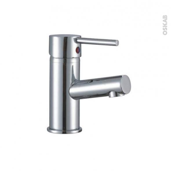 Robinet GOBY - Mitigeur lavabo salle de bains - Bec bas à tirette - Chromé