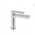 Robinet de salle de bains - MAKRO - Mitigeur lavabo - Bec bas sans tirette - Chromé