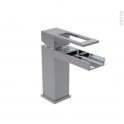 Robinet PAGRE - Mitigeur lavabo salle de bains - Bec bas à tirette - Chromé