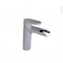 Robinet ASPE - Mitigeur lavabo salle de bains - Bec bas sans tirette - Chromé