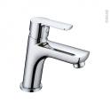 Robinet ANCOS - Mitigeur lavabo salle de bains - Bec bas à tirette - Chromé