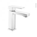Robinet CARAS - Mitigeur lavabo salle de bains - Bec bas à tirette - Chromé