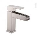 Robinet GALI - Mitigeur lavabo salle de bains - Bec bas à tirette - Chromé