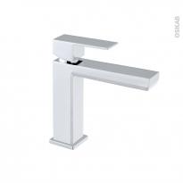 Robinet ELOT - Mitigeur lavabo salle de bains - Bec bas sans tirette - Chromé