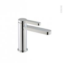 Robinet LINU - Mitigeur lavabo salle de bains - Bec bas à tirette - Chromé