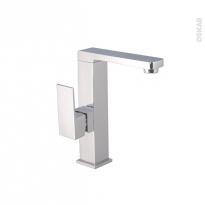 Robinet LOU - Mitigeur lavabo salle de bains - Bec bas à tirette - Chromé