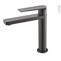 Robinet de salle de bains - XIPHO - Mitigeur lavabo - bec moyen - Graphite