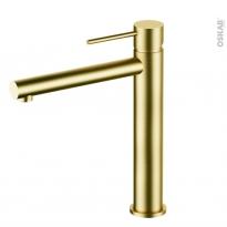 Robinet de salle de bains EGLE Mitigeur lavabo, Bec haut sans tirette, Laiton
