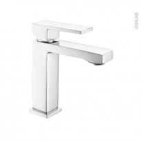 Robinet de salle de bains - CARAS - Mitigeur lavabo - Bec bas à tirette - Chromé
