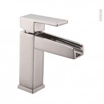 Robinet de salle de bains - GALI - Mitigeur lavabo - Bec bas à tirette - Chromé