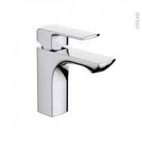 Robinet de salle de bains - OMBRA - Mitigeur lavabo - Bec bas à tirette - Chromé