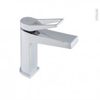 Robinet SANDRE - Mitigeur lavabo salle de bains - Bec bas à tirette - Chromé