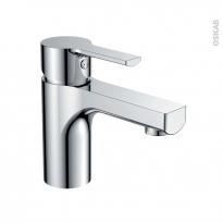 Robinet de salle de bains - SILU - Mitigeur lavabo - Bec bas à tirette - Chromé