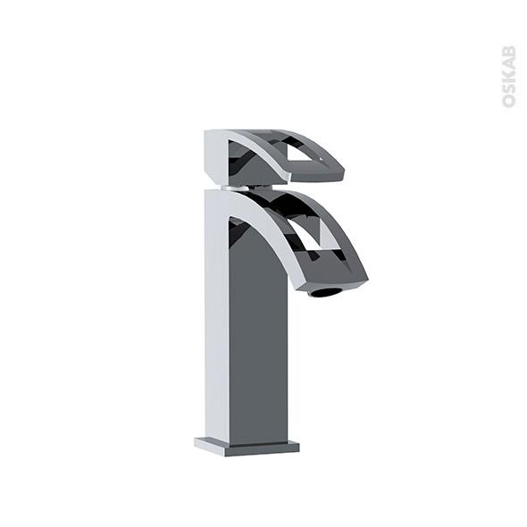 Robinet ROUGET - Mitigeur lavabo salle de bains - Bec bas sans tirette - Chromé