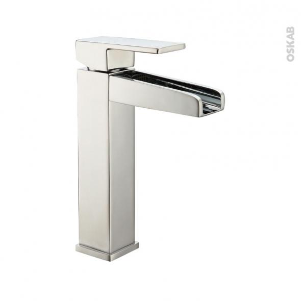 robinet de salle de bains gali mitigeur lavabo bec haut sans tirette chrom oskab. Black Bedroom Furniture Sets. Home Design Ideas