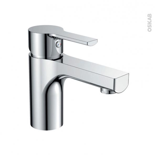 Robinet SILU - Mitigeur lavabo salle de bains - Bec bas à tirette - Chromé