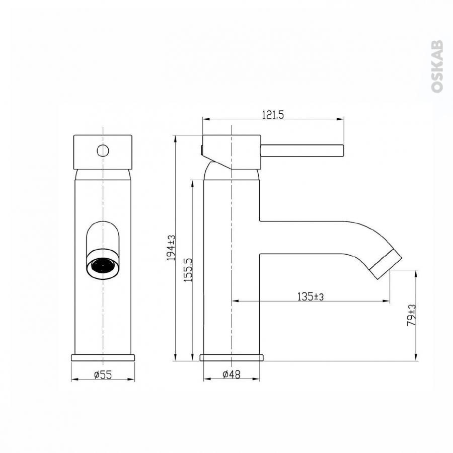 Robinet de salle de bains guppy mitigeur lavabo bec bas - Joint lavabo salle de bain ...