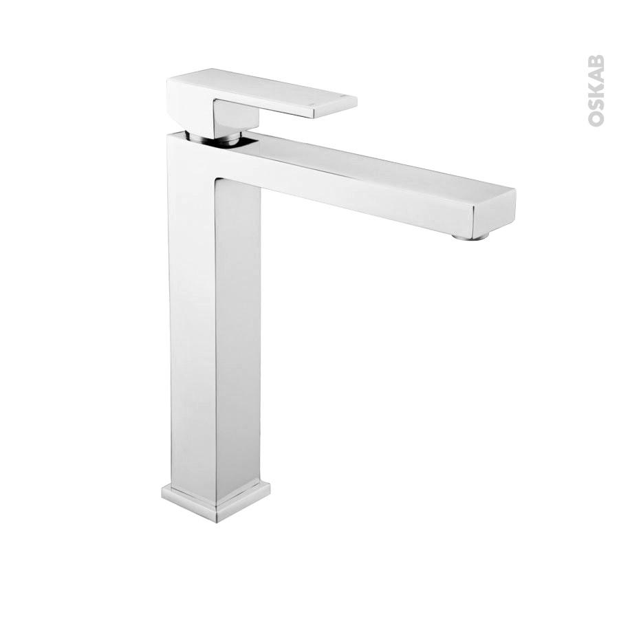 robinet de salle de bains caras mitigeur lavabo bec haut sans tirette chrom oskab. Black Bedroom Furniture Sets. Home Design Ideas