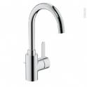 Robinet de salle de bains - EUROSMART COSMOPOLITAN - Mitigeur lavabo - Bec haut à tirette - Chromé - GROHE