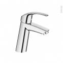 Robinet de salle de bains - EUROSMART - Mitigeur lavabo - Bec moyen sans tirette - Chromé - GROHE