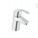 Robinet de salle de bains - EUROSMART - Mitigeur lavabo - Bec bas sans tirette - Chromé - GROHE