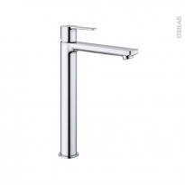 Robinet de salle de bains - LINEARE - Mitigeur lavabo - Bec haut sans tirette - Chromé - GROHE