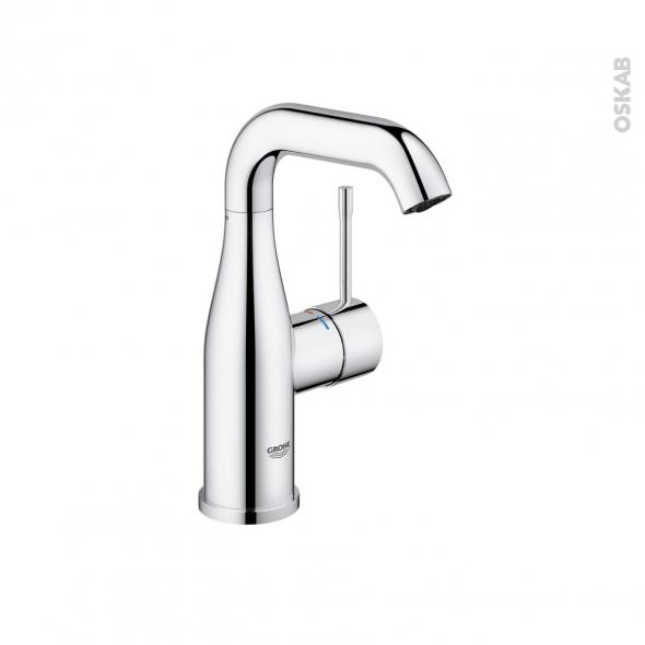 Robinet de salle de bains - ESSENCE - Mitigeur lavabo - Bec moyen sans tirette - Chromé - GROHE