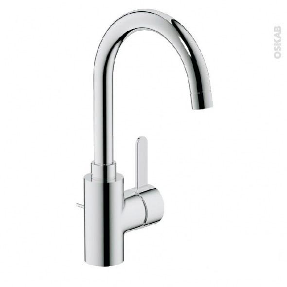 Robinet EUROSMART COSMOPOLITAN - Mitigeur Lavabo salle de bains - Bec haut à tirette - Chromé - GROHE