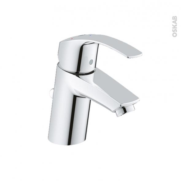 Robinet de salle de bains - EUROSMART - Mitigeur lavabo - Bec bas à tirette - Chromé - GROHE
