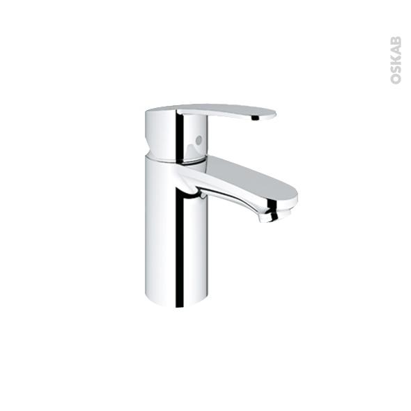 Robinet de salle de bains - EUROSTYLE COSMOPOLITAN - Mitigeur lavabo - Bec bas sans tirette - Chromé - GROHE