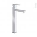 Robinet de salle de bains - ROC - Mitigeur lavabo - Bec haut sans tirette - Chromé