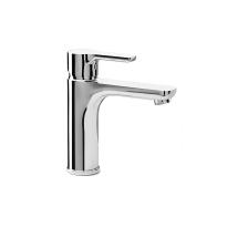 Robinet de salle de bains - ODCHU - Mitigeur lavabo - bec moyen - Chromé