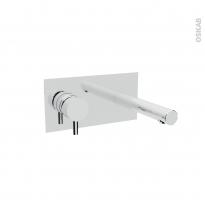 Robinet de salle de bains - NIL - Mitigeur lavabo - Mural encastré - Chromé