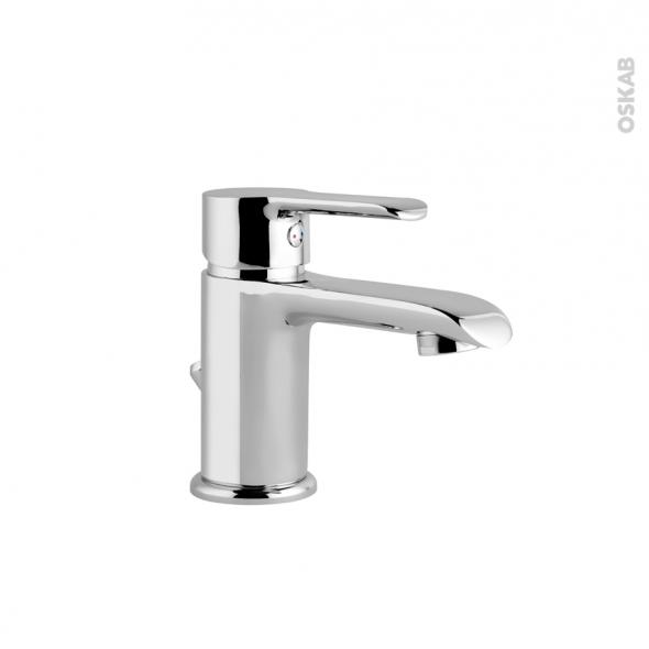 Robinet de salle de bains - LIMA - Mitigeur lavabo - Bec bas à tirette - Chromé