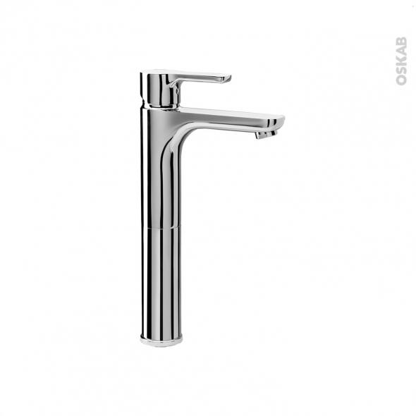 Robinet de salle de bains - ODCHU - Mitigeur lavabo - Bec haut sans tirette - Chromé