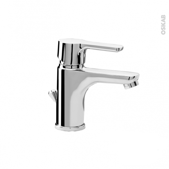 Robinet de salle de bains - TURLI - Mitigeur lavabo - Bec bas à tirette - Chromé