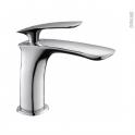 Robinet de salle de bains - ORKID - Mitigeur lavabo - Bec bas sans tirette - Chromé