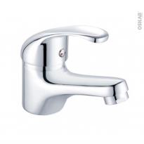 Robinet de salle de bains - BELFORT - Mitigeur lavabo - Bec bas à tirette - Chromé