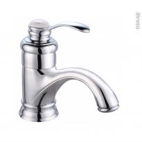 Robinet de salle de bains - BYRON - Mitigeur lavabo - Bec bas sans tirette - Chromé