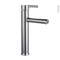 Robinet de salle de bains - DOVER - Mitigeur lavabo - Bec haut sans tirette - Chromé