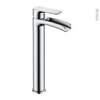Robinet de salle de bains - HUTT - Mitigeur lavabo - Bec haut sans tirette - Chromé