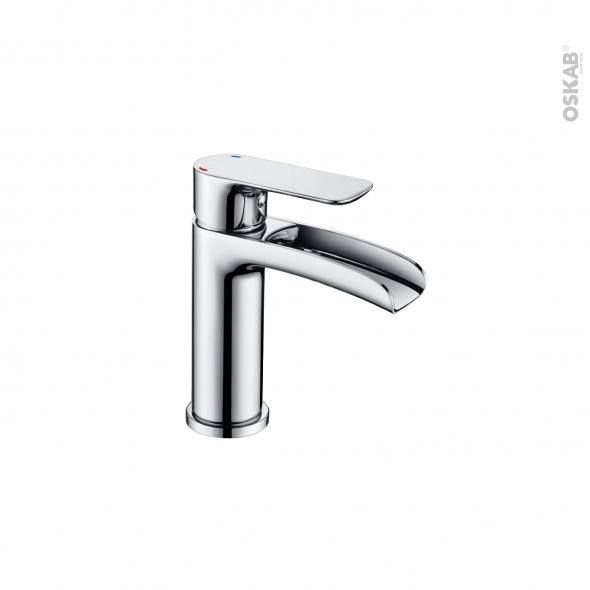 Robinet de salle de bains - HUTT - Mitigeur lavabo - Bec bas sans tirette - Chromé