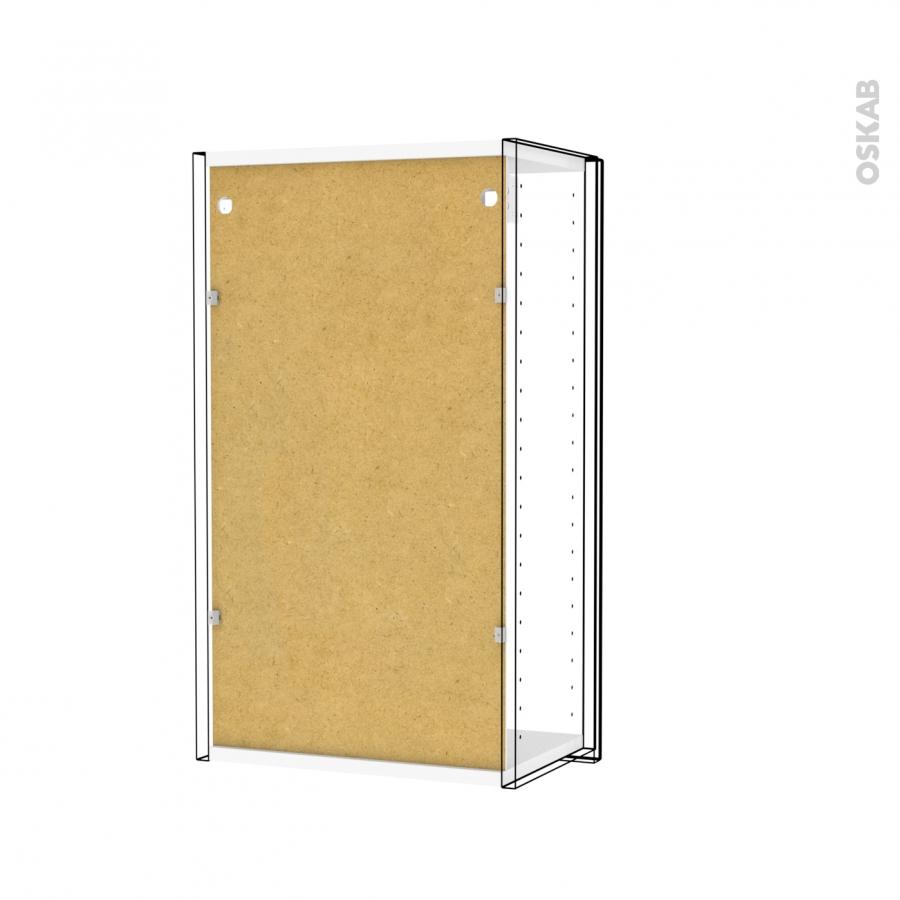 Armoire de salle de bains rangement haut 1 porte miroir for Miroir salle de bain rangement